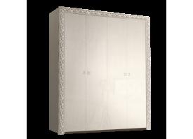 Шкаф 4-дверный Тиффани премиум серебро без зеркал