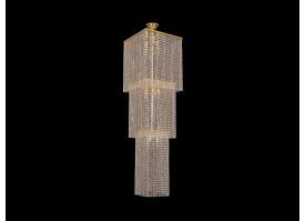 Каскадная люстра Bohemia Ivele Crystal 2180/45-160/GD