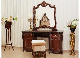 """Туалетный столик с зеркалом Лорена орех """"Арида мебель"""""""