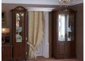 Витрина 2-дверная Да Винчи орех