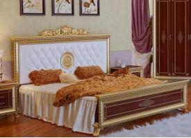 Кровать Версаль орех  (мягкое изголовье)