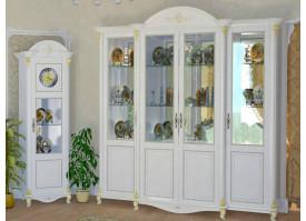Шкаф-витрина 4-дверная Да Винчи беж