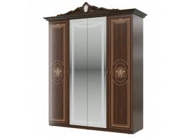 Шкаф 4-х дверный Грация орех