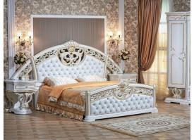 Кровать Марелла белое золото/ Арида мебель- АКЦИЯ!
