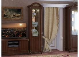 Витрина 1-дверная Да Винчи орех