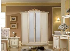 Шкаф 4-дверный Ариза ваниль