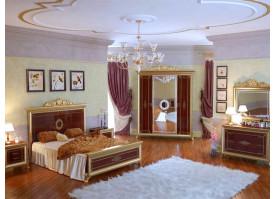 Спальня Версаль орех с твердым изголовьем