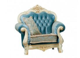 Кресло Илона крем бирюза