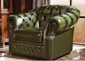 Кожаное кресло В-128 (зеленое)