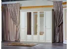 Шкаф 5-дверный Берта жемчуг/ Арида мебель