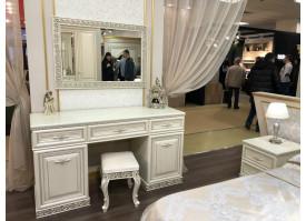 Туалетный столик с зеркалом Берта жемчуг/ Арида мебель