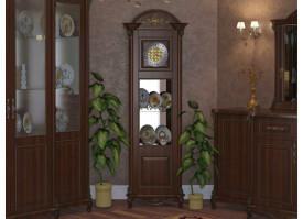 Витрина 1-дверная Да Винчи орех (с часами)