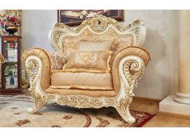 Кресло Лорд крем/золото