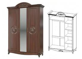 Шкаф 3-х дверный Да Винчи орех