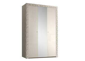Шкаф 3-дверный Тиффани премиум серебро с зеркалами