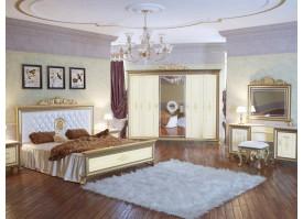 Спальня Версаль беж с мягким изголовьем
