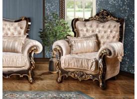 Кресло Валенсия 1 венге/ваниль