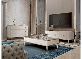 Гостиная ТВ Римини Соло 4 (слоновая кость/серебро) СКИДКА -50%