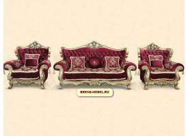 Мягкая мебель Фараон (бордовая)
