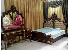 Кровать Шейх орех (темное изголовье)