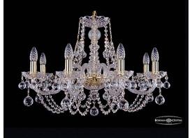 Люстра большая Bohemia Ivele Crystal 1406/8/240/G/Balls
