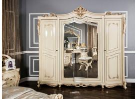 """Шкаф 5-дверный Джоконда крем глянец """"Эра мебель"""""""