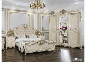 """Спальня Джоконда Люкс 3-дв./крем глянец """"Эра мебель"""""""