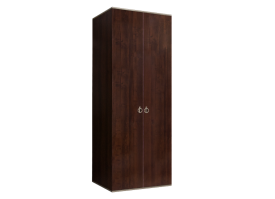 Шкаф 2-дверный Римини (орех/серебро) СКИДКА -50%!
