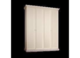 Шкаф 4-дверный Тиффани серебро без зеркал АКЦИЯ! СКИДКА - 40 %