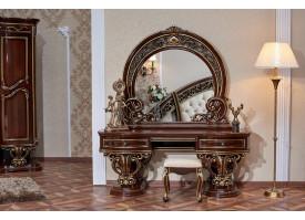 Туалетный стол с зеркалом Марелла орех/ Арида мебель