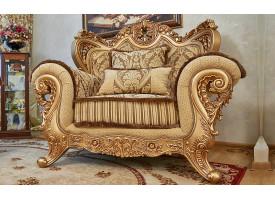 Кресло Лорд золото/орех (табло беж)