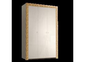 Шкаф 3-дверный Тиффани премиум золото без зеркал
