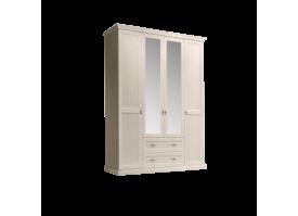 Шкаф 4-дверный Венеция беж (с зеркалами,с ящиками)