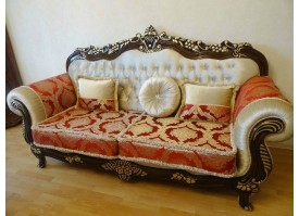 Мягкая мебель Корона (беж+бордо)
