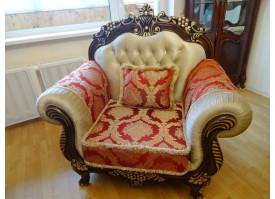 Кресло Корона (беж+бордо)