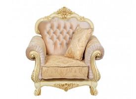 Кресло Илона крем золото