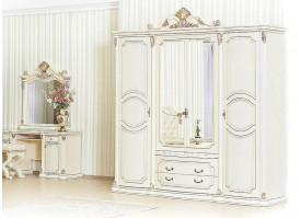 "Шкаф 4-дверный Меланж крем/беж ""Арида мебель"""