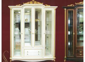 Шкаф витрина Ариза 4-х дверная ваниль
