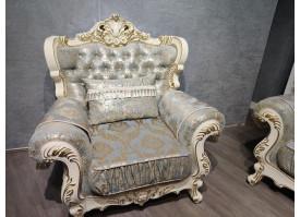 Кресло Валенсия 1 бежевая/бирюза