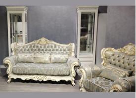 Мягкая мебель Валенсия 1 бежевая/бирюза
