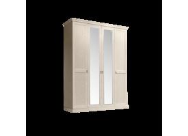 Шкаф 4-дверный Венеция беж (с зеркалами)