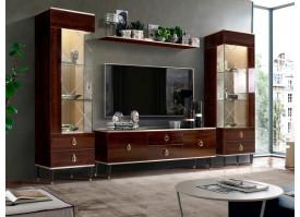 Гостиная ТВ Римини (орех/золото) СКИДКА -50%