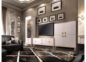 Гостиная ТВ Римини (слоновая кость/золото) СКИДКА -50%