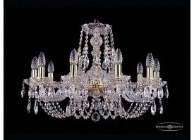 Люстра большая Bohemia Ivele Crystal 1406/10/240/G