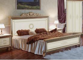 Кровать Версаль беж (шелкография)