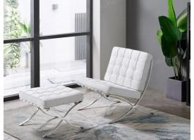Кресло W120-06B белое + Банкетка W120-06А