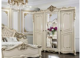 """Шкаф 3-дверный Джоконда крем глянец """"Эра мебель"""""""