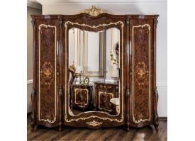 """Шкаф 4-дверный Энрике орех/глянец """"Эра мебель"""""""