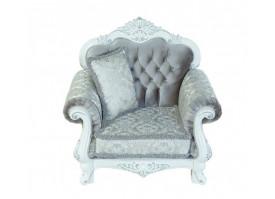 Кресло Илона белый серебро