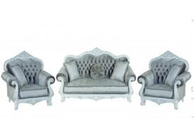 Мягкая мебель Илона белый серебро